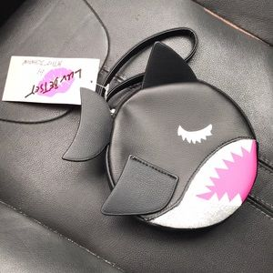 NWT Betsey Johnson Shark Coin Purse